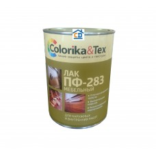 Лак ПФ-283 мебельный бесцветный глянцевый Colorika&Tex 0,8 л.