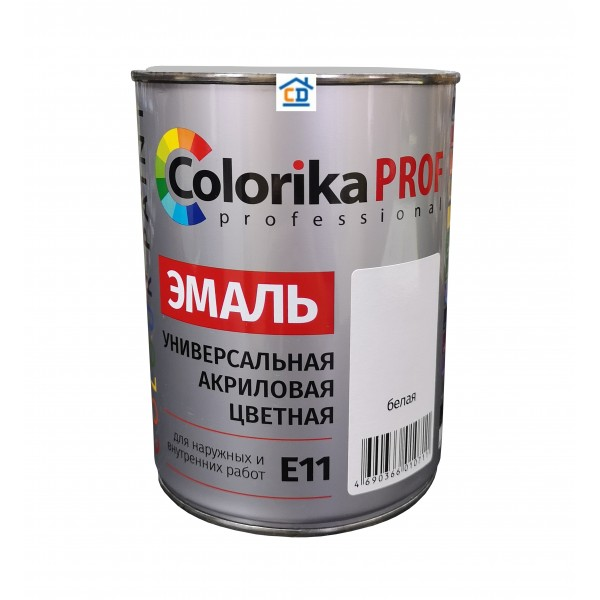 Эмаль акриловая Colorika Prof белая 0,9 л.