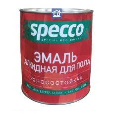 Эмаль для пола ПФ-266 красно-коричневая Specco 0,9 кг.