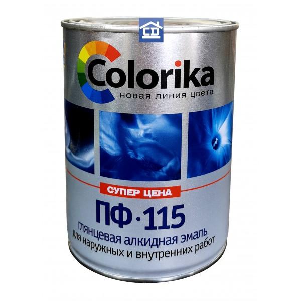 Эмаль ПФ-115 Colorika небесная 0,8 кг.