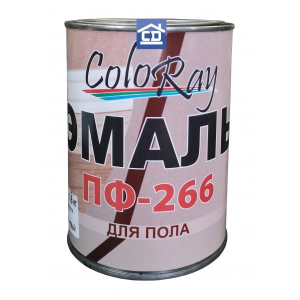 Краска для пола ПФ-266 красно-коричневая ColoRay 2,6 кг.
