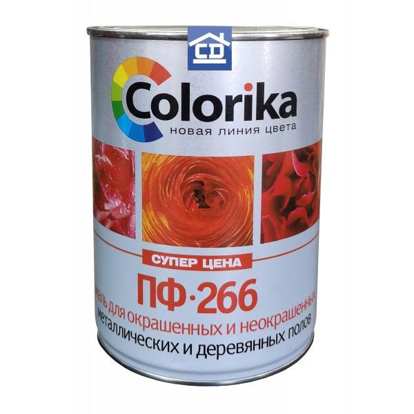 Краска для пола ПФ-266 красно-коричневая 2,7 кг Colorika