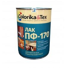 Лак ПФ-170 Colorika&Tex алкидный глянцевый бесцветный 0,8 л.