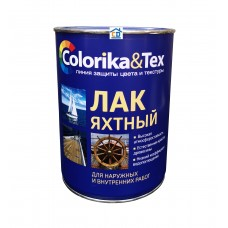 Лак яхтный Colorika&Tex глянцевый бесцветный 0,8 л.