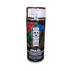 Эмаль для металлочерепицы DECORIX шоколадно-коричневая 520 мл.