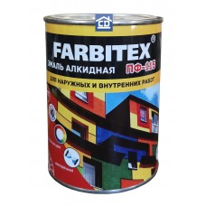 Эмаль алкидная ПФ-115 синяя FARBITEX 0,8 кг.