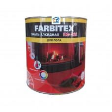 Эмаль ПФ-266 для пола красно-коричневая FARBITEX 0,9 кг.
