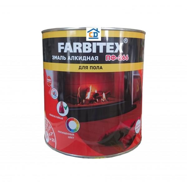 Эмаль ПФ-266 красно-коричневая FARBITEX 2,7 кг.