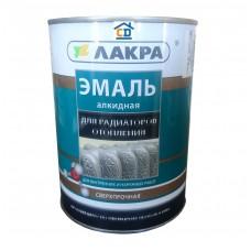 Эмаль алкидная для радиаторов отопления белая полуматовая Лакра 0,9 кг.