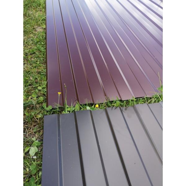 Профнастил С8 коричневый 0,5 мм.