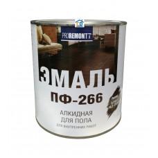 Эмаль ПФ-266 для пола красно-коричневая Proremont 0,9 кг.