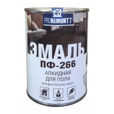 Краска для пола ПФ-266 красно-коричневая Proremont 0,9 кг.