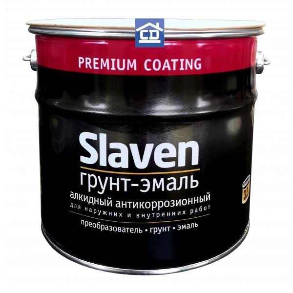 Грунт-эмаль по ржавчине оранжевая Slaven 3,2 кг.