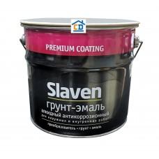 Грунт-эмаль Slaven черная 3,2 кг.