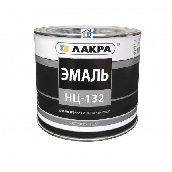 Эмаль НЦ-132 серая Лакра 1,7 кг.