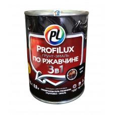 Грунт-эмаль по ржавчине 3 в 1 черная Profilux 0,9 кг.